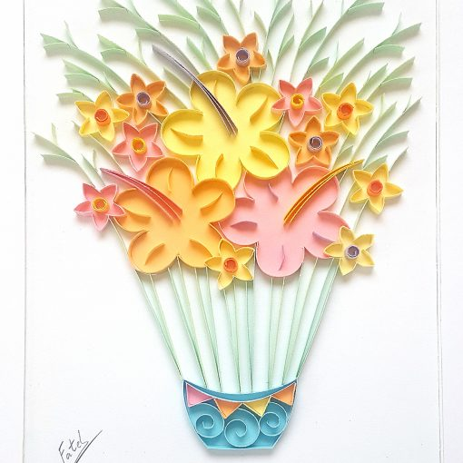 Air flowers - 33x23cm (without frame 18x13 cm)