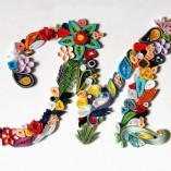 quilling letter M