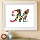 quilling letter in frame